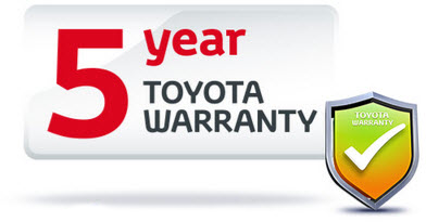 5 year Toyota Warranty